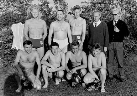Heren waterpoloteam, 1963.
