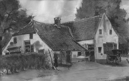Schilderij van 'De Lindeboom'. Ger. van Vliet, 1921.