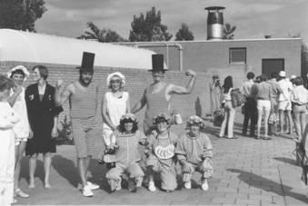 Tienkamp: het team van Gemeente Scherpenzeel,1980.