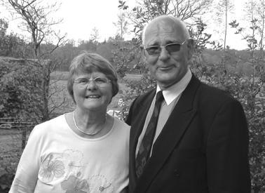 Andries van den Berg met zijn vrouw Pepie.
