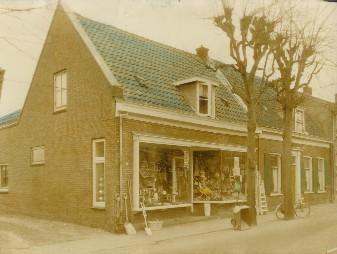 De winkel midden jaren zestig.