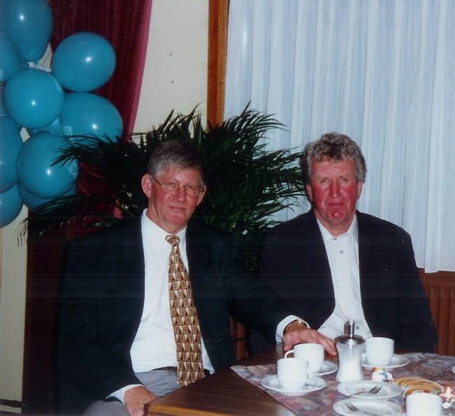 DOTO-coryfeeën Evert Feenstra en Bert Berkhof. 1998