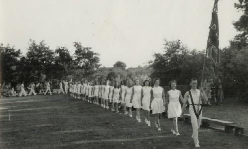 Ruud Keitz draagt het vaandel in de jaren vijftig