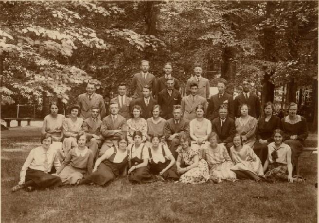 Het koor in 1934