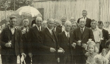 Receptie t.g.v. het 50-jarig jubileum van de zuivelfabriek in 1947.