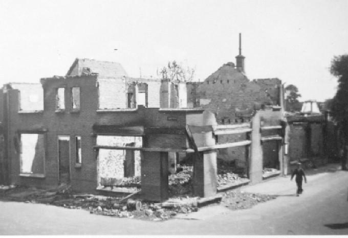 De verwoesting in 1940 van het Methorstpand