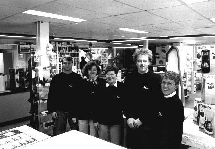 Vlnr: Timo Pedron, Wendy Mandersloot, Wil Mandersloot, Jaap Mandersloot, Els Schoonhoven