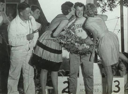 Ab Ter Maten wint de sprint bij de Tour de Junior in 1963
